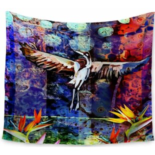 AlyZen Moonshadow Birds Of Paradise Multi Tapestry and Wall Hanging