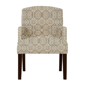 Keisha Beige Fabric Arm Chair by Darby Home Co