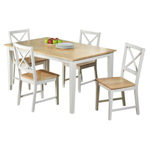 Becky Crossback 5 Piece Dining Set by August Grove