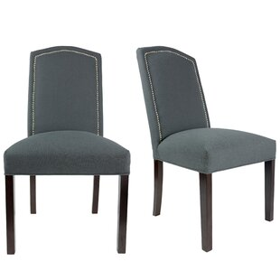 Shelton Upholstered Contemporary Parsons Chair (Set of 2)