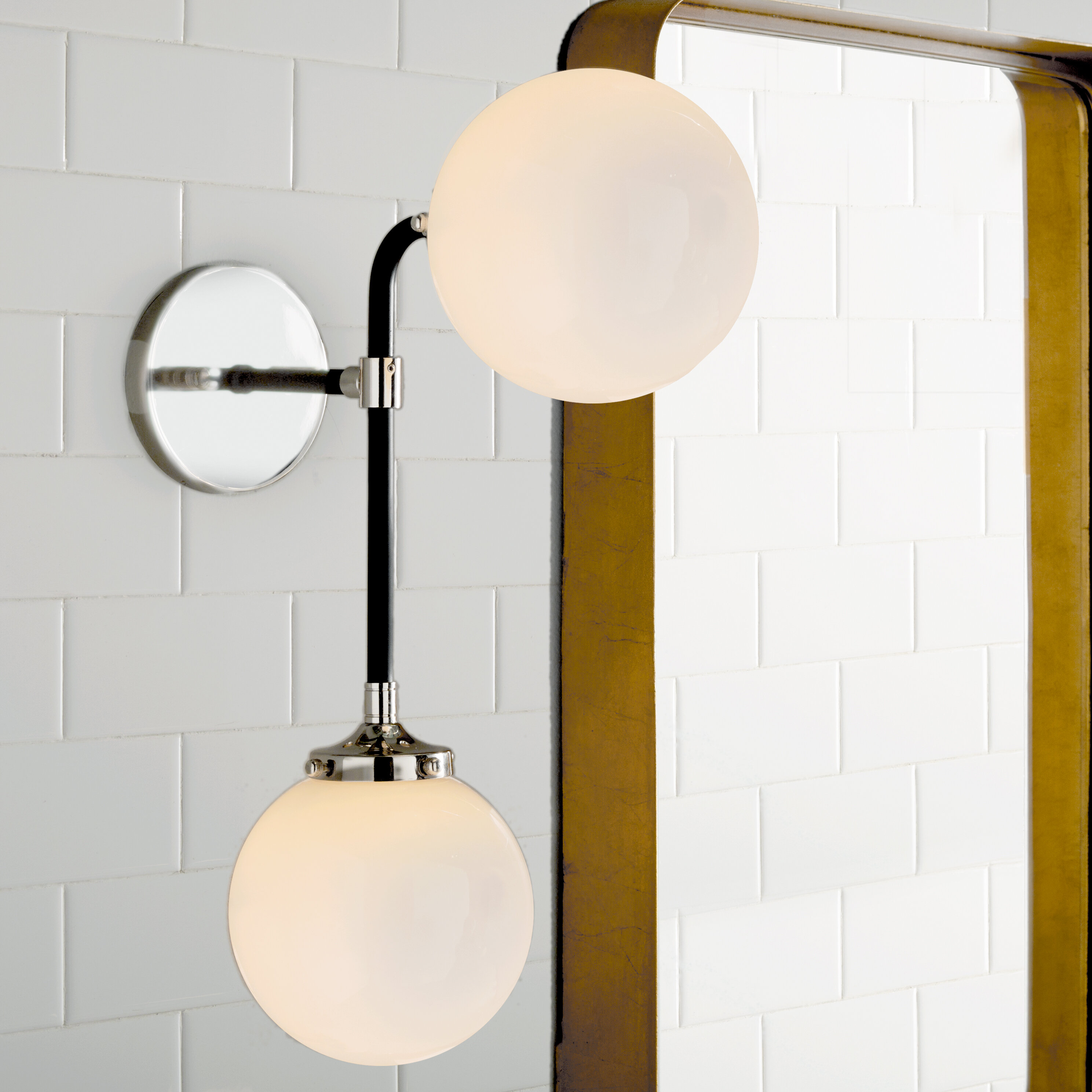 Mid century modern sconces youll love sam 2 light wall sconce aloadofball Image collections