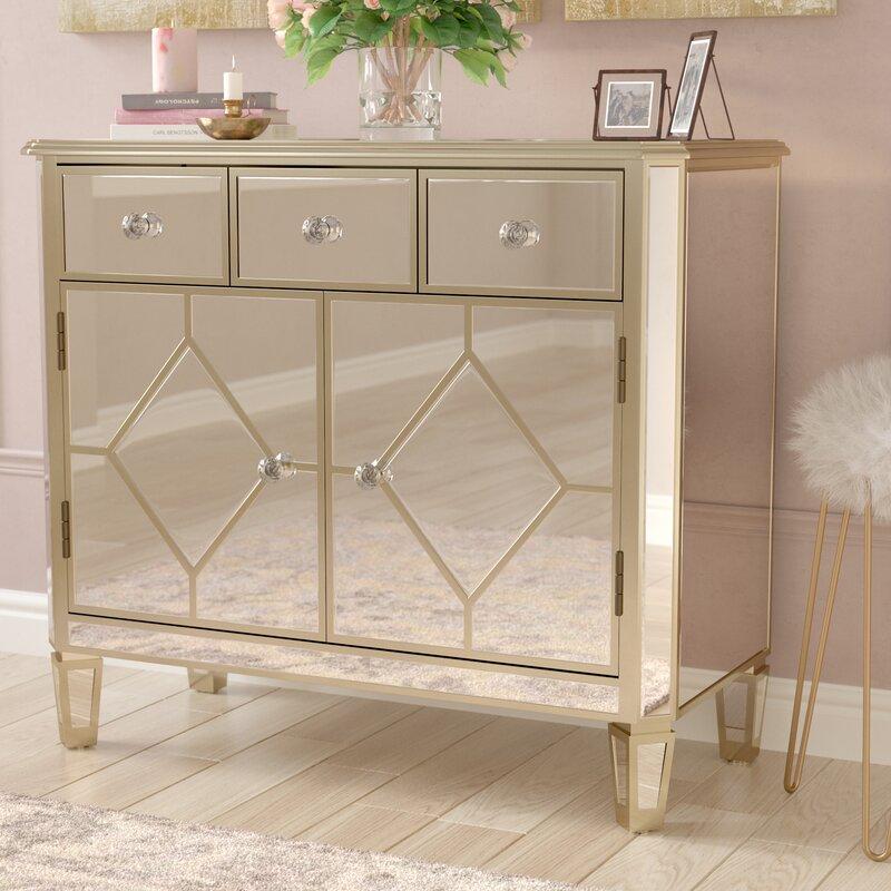 Sarina Mirrored 5 Drawer Cabinet Reviews Joss Main