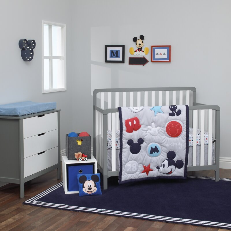 f7fa0630a Carter's Disney Amazing Mickey Mouse 3 Piece Crib Bedding Set & Reviews |  Wayfair