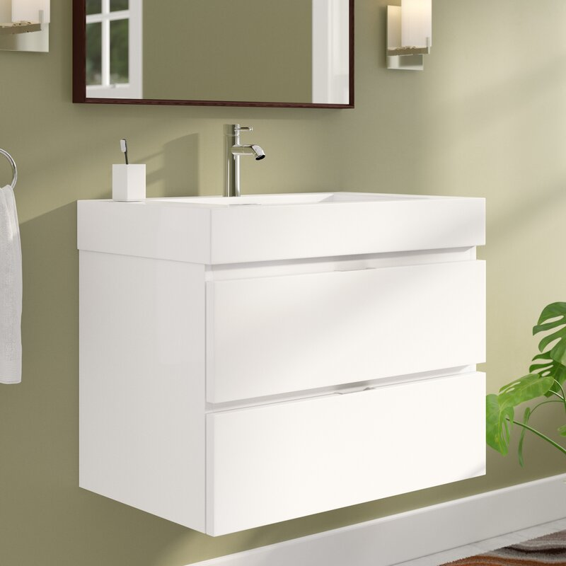 Wade Logan Tenafly 30 Single Wall Mounted Bathroom Vanity Set