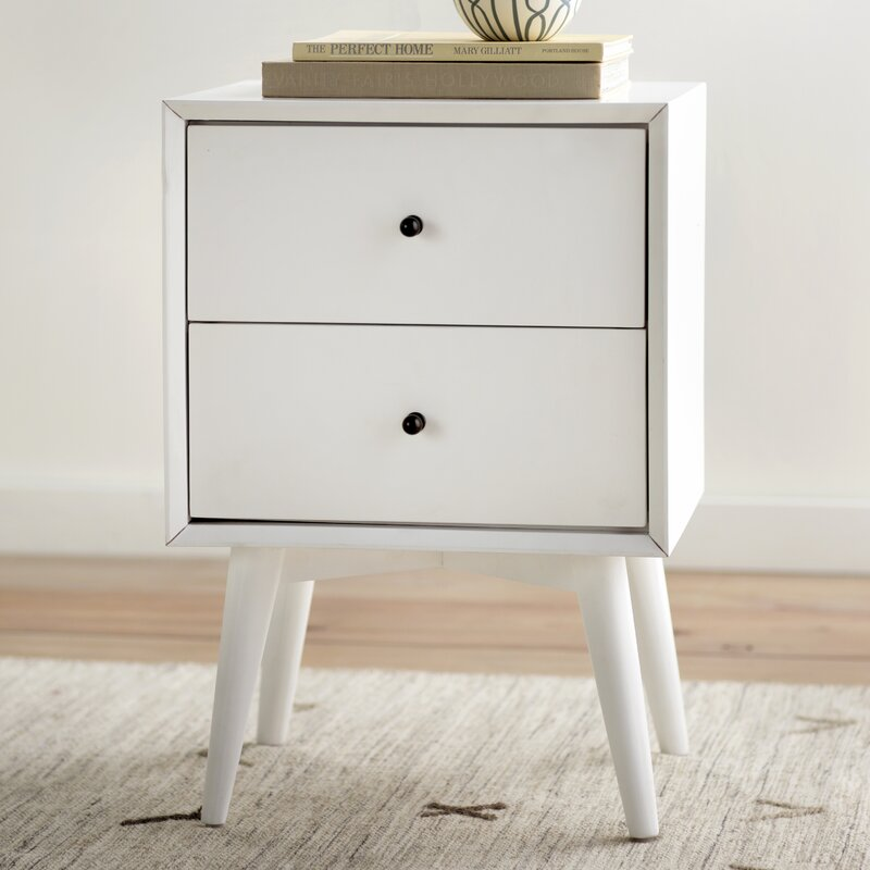 white dresser and nightstand parocela 2 drawer nightstand amp reviews birch 17831