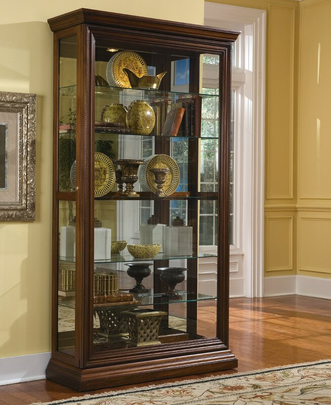 Darby Home Co Purvoche Lighted Curio Cabinet & Reviews