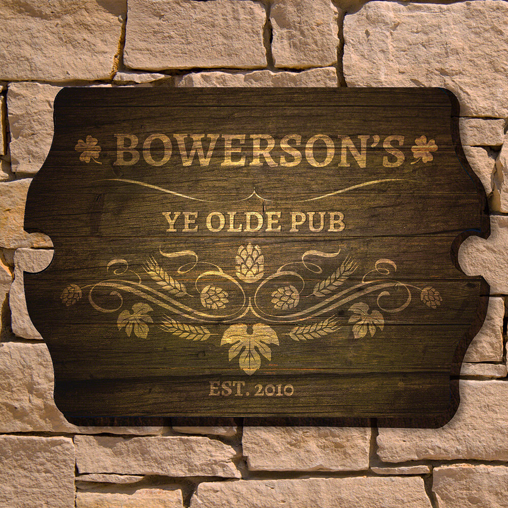 Home Wet Bar Ye Olde Pub Personalized Bar Sign Wall Decor Wayfair