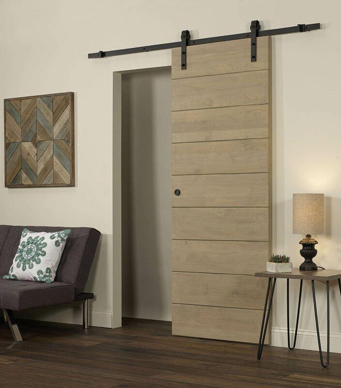 LTL Barn Doors Horizontal Solid Wood Interior Barn Door & Reviews