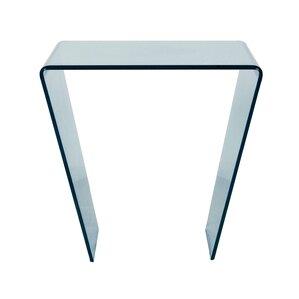 Arche Glass End Table by Orren Ellis