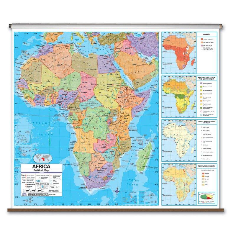 Universal Map Advanced Political Map Africa Wayfair