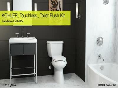 K-1954-0 Kohler Touchless Toilet Flush Kit & Reviews | Wayfair
