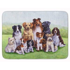 Justin Dogs Memory Foam Bath Rug