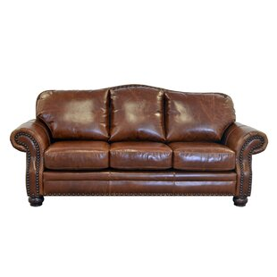 brown distressed leather sofas you ll love wayfair rh wayfair com weathered leather couch