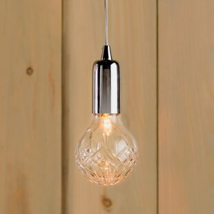 Sleek halogen pendant lighting wayfair cyprien 1 light halogen bulb pendant aloadofball Images