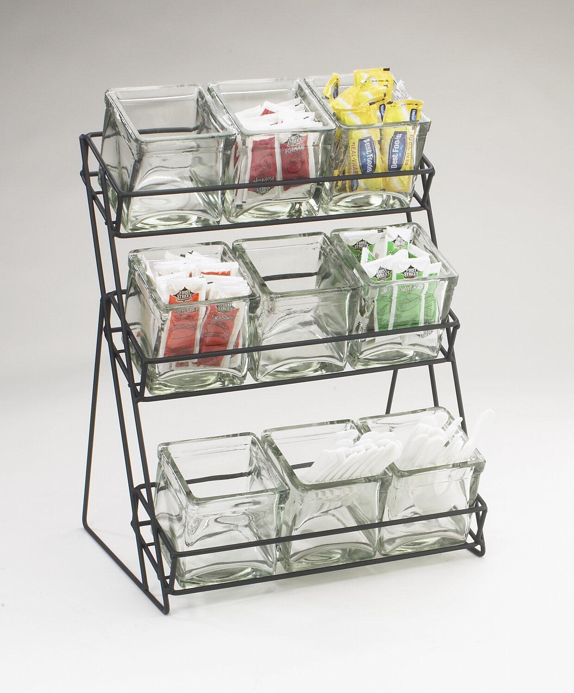 Cal-Mil 3 Tier Wire Rack with 9 Jars | Wayfair