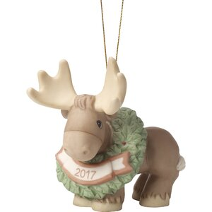 Merry Christmoose Ornament Hanging Figurine