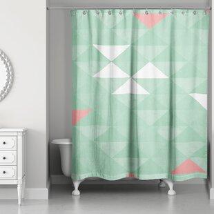 Mint Green Shower Curtain. Nowicki Triangle Mint Shower Curtain Green  Wayfair