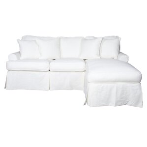 Coral Gables T-Cushion Sofa Slipcover Set by..