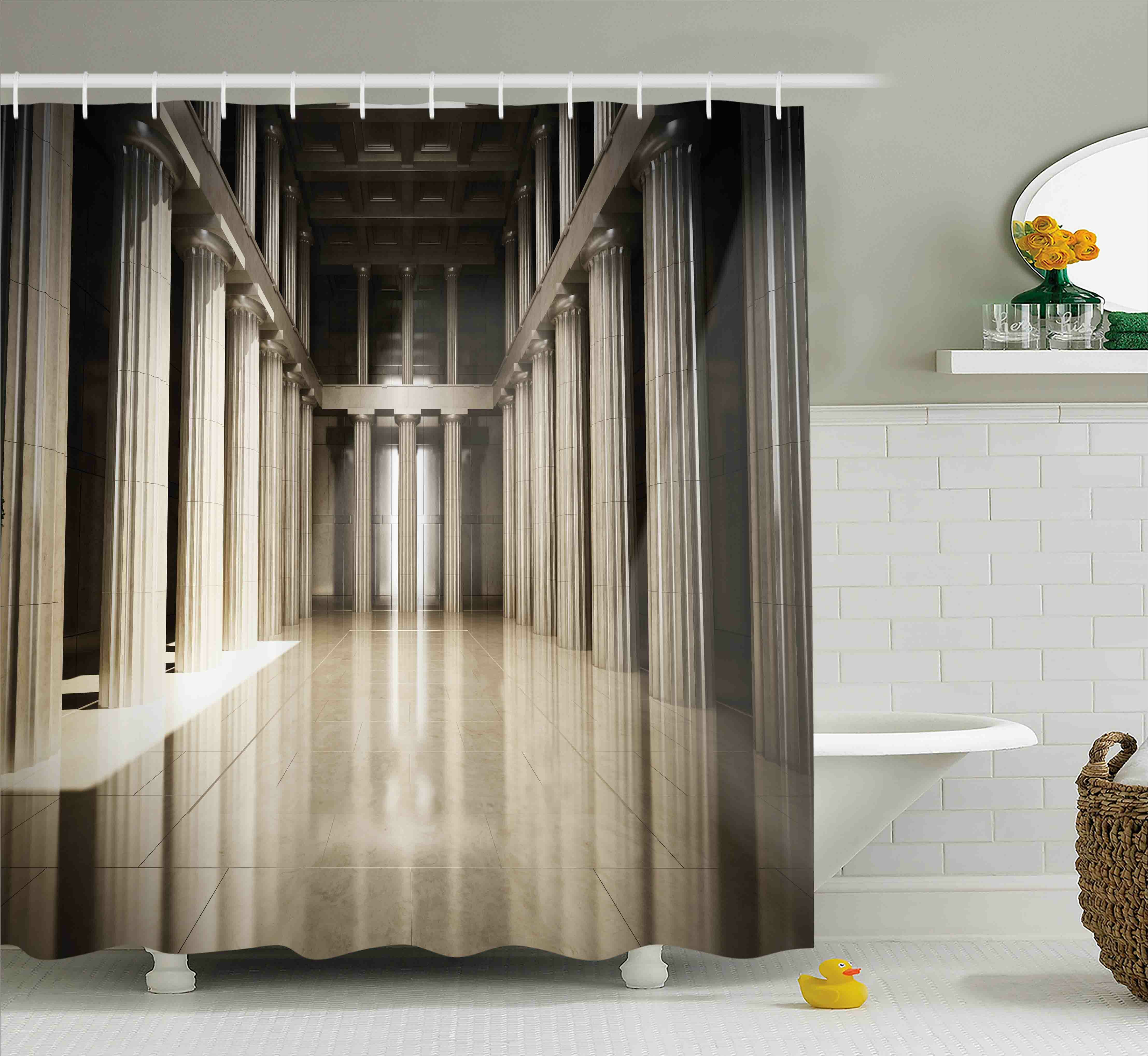 Ebern Designs Theresa 3D Model Style Column Interior Empty Room Digital  Image Decorative Design Shower Curtain | Wayfair