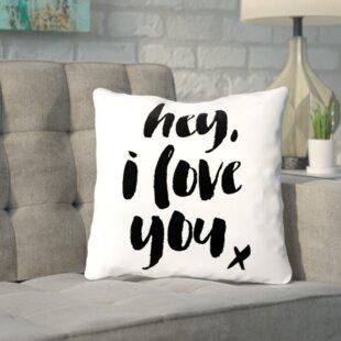 I Love You Pillow Wayfair