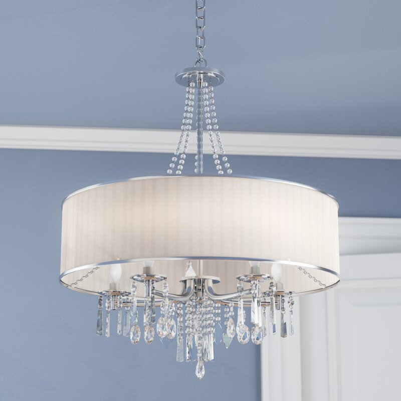 drum light chandelier. Abel 5-Light Chandelier Drum Light Wayfair