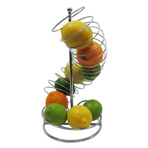 Spiral Fruit Basket Stand