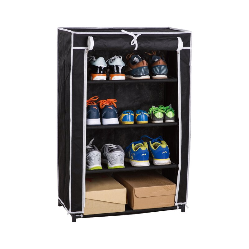 Above Edge Roll-Up 16 Pair Shoe Rack