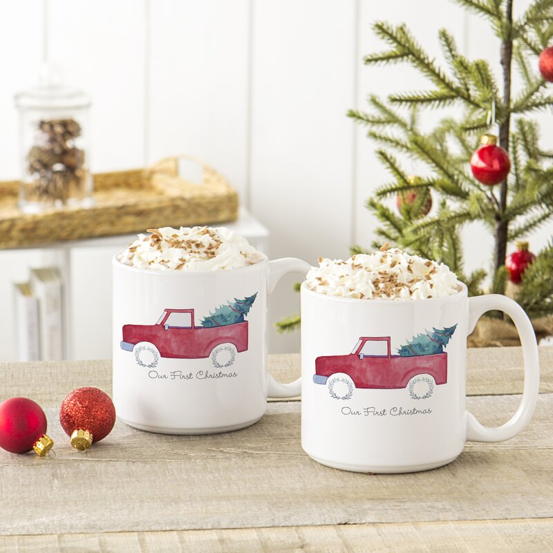 Holiday Christmas Tree Truck Coffee Mug