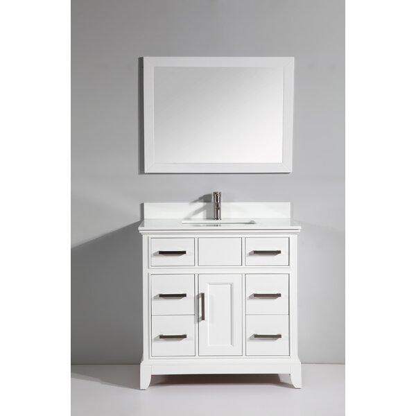 Vanity Art Phoenix Stone 36 Single Bathroom With Mirror Reviews