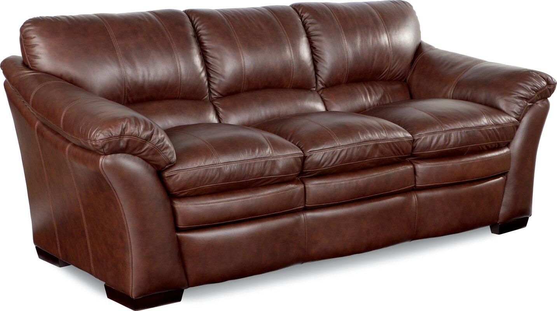 La Z Boy Burton Leather Sofa Amp Reviews Wayfair