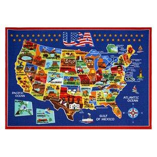 Usa Map Area Rug