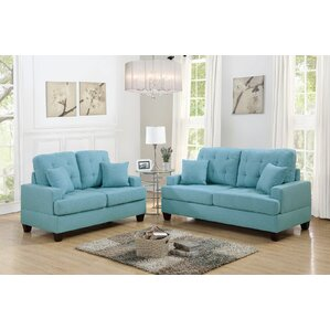Ebern Designs Araromi 2 Piece Living Room Set