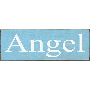 Angel Textual Art Plaque