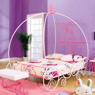 Guyette Princess-Style Canopy Bed & Girls Princess Canopy Bed | Wayfair