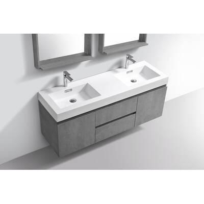 Orren Ellis Sinope 59 Wall Mounted Double Bathroom Vanity Set