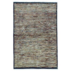 One-of-a-Kind Sarramea Hand-Knotted Wool Beige Area Rug