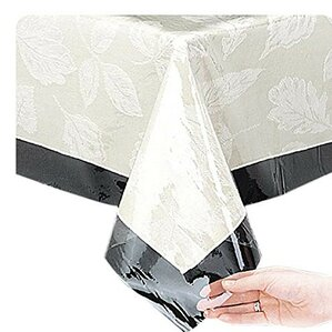Oval Shaped Vinyl Protector Tablecloth