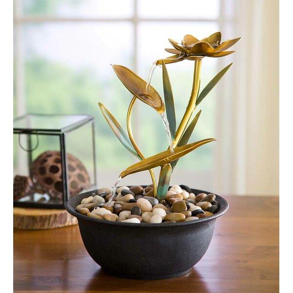 Wind Weather Metal Lotus Flower Fountain Reviews Wayfair