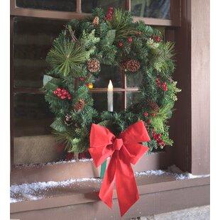 holiday window 24 wreath - Window Wreaths Christmas Decorations
