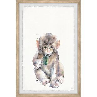 Jaeden Cute Little Monkey Canvas Art by Viv   Rae
