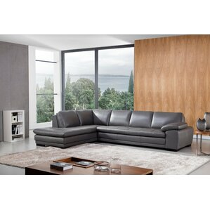 Wade Logan Stockbridge Leather Sectional