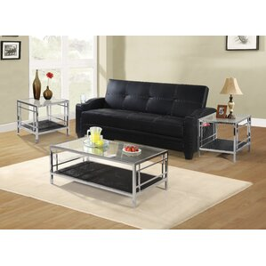 Living Room 3 Piece Table Sets glass coffee table sets you'll love | wayfair