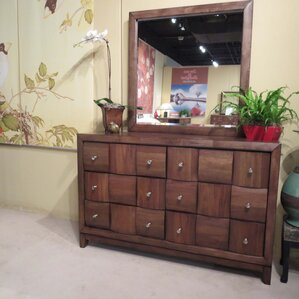 Calais 6 Drawer Dresser and Mirror by Roundhill Furniture
