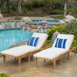 Ardsley Reclining Chaise Lounge With Cushion Set Of 2
