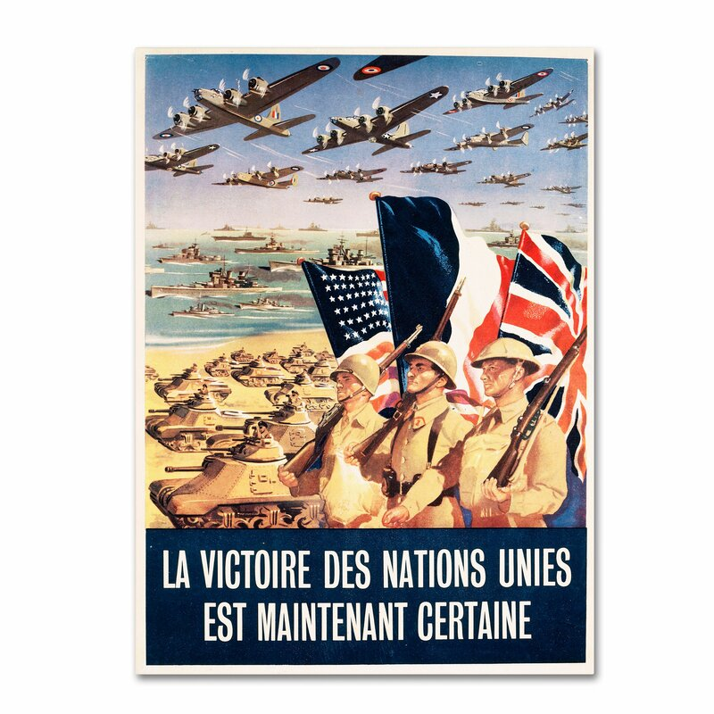 French Propaganda Poster From World War II Vintage Advertisement On Canvas