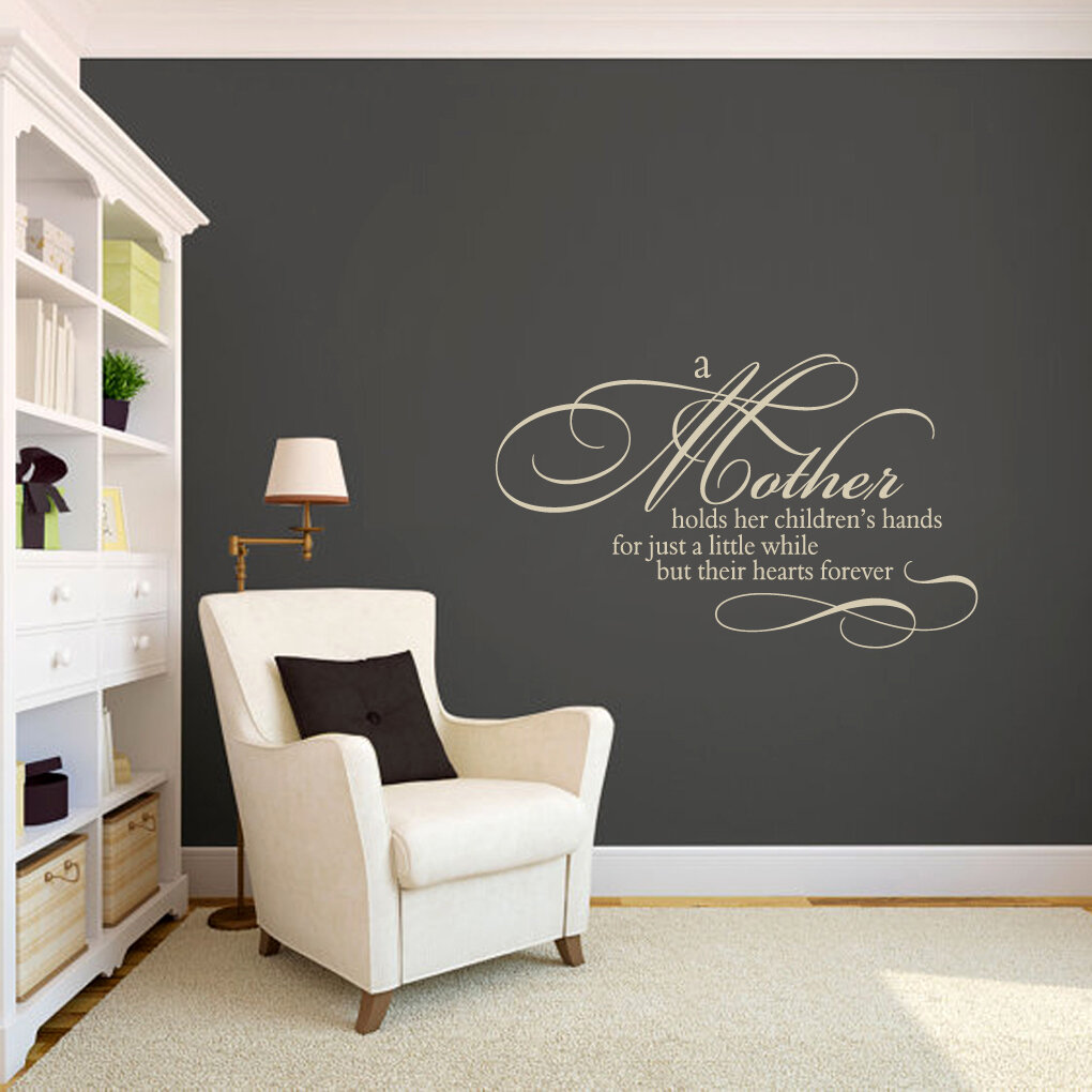 Sweetumswalldecals a mother holds her childrens hands wall decal reviews wayfair