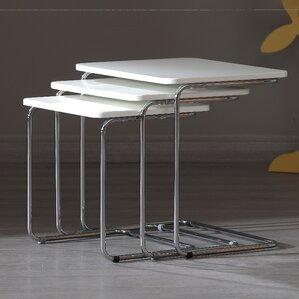 Kent 3 Piece Nesting Tables by Oak Idea Impo..