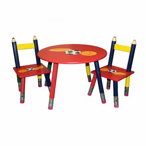 Captivating Kids 3 Piece Table And Chair Set