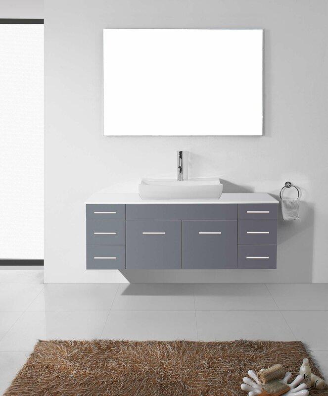 Virtu Usa Ultra Modern Series 56 Single Bathroom Vanity