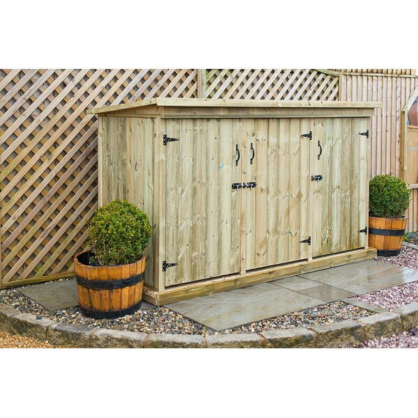 the garden village 7 x 3 wooden garden shed reviews wayfaircouk - Garden Sheds 7 X 3